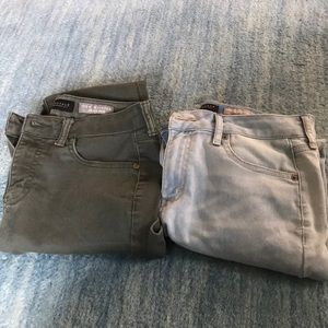 Two pairs of Aero jeggings